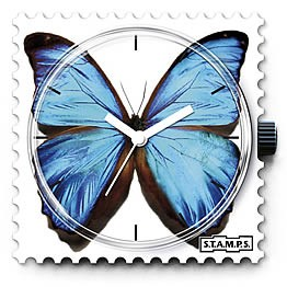Stamps Uhr Blue Butterfly