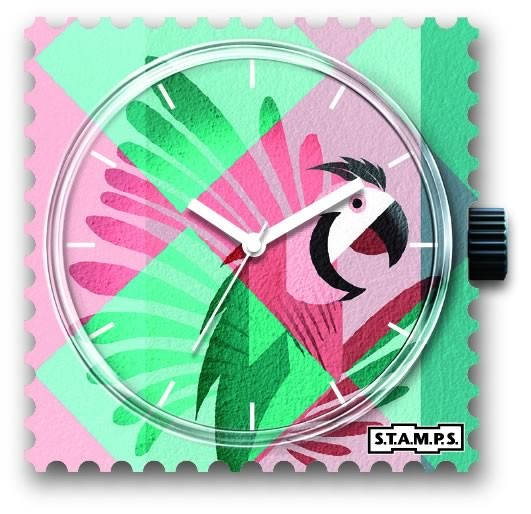 Stamps Uhr Pink Parrot