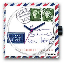Stamps Uhr Airmail For You