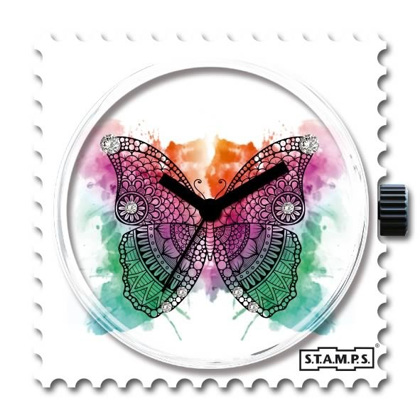 Stamps Uhr Butterfly with Swarovski Crystals
