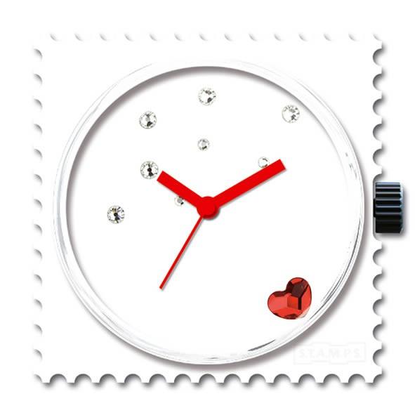 Stamps Funky Red Diamond, mit Swarovski Steinen