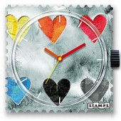Stamps Uhr Collecting Hearts