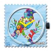 Stamps Flower Bird