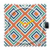Stamps Uhr Orange Rhombus