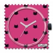Stamps Uhr Pink Cat