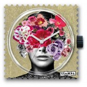 Stamps Uhr Head Full Of Flowers