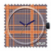 Stamps Orange Karos