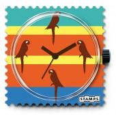 Stamps Uhr Parrots