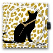Stamps Uhr Silhouette