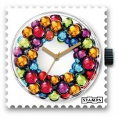 Stamps Uhr X-Mas Colourful Circle