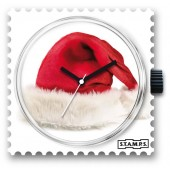 Stamps Uhr X-Mas Red Hat